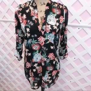 LIBERTY LOVE POP OVER FLORAL TOP